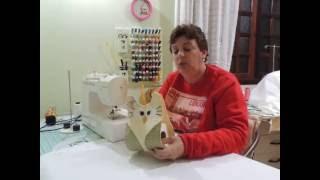 Porta papel higiênico de corujinha em tecido