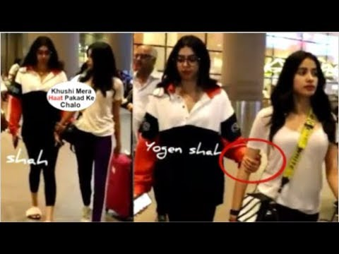 Download Khushi Kapoor's CUTE Video HOLDING Sister Jhanvi Kapoor's Hands While Walking At Airport