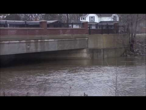 The Flooded Red Cedar River The Day After The February Flood