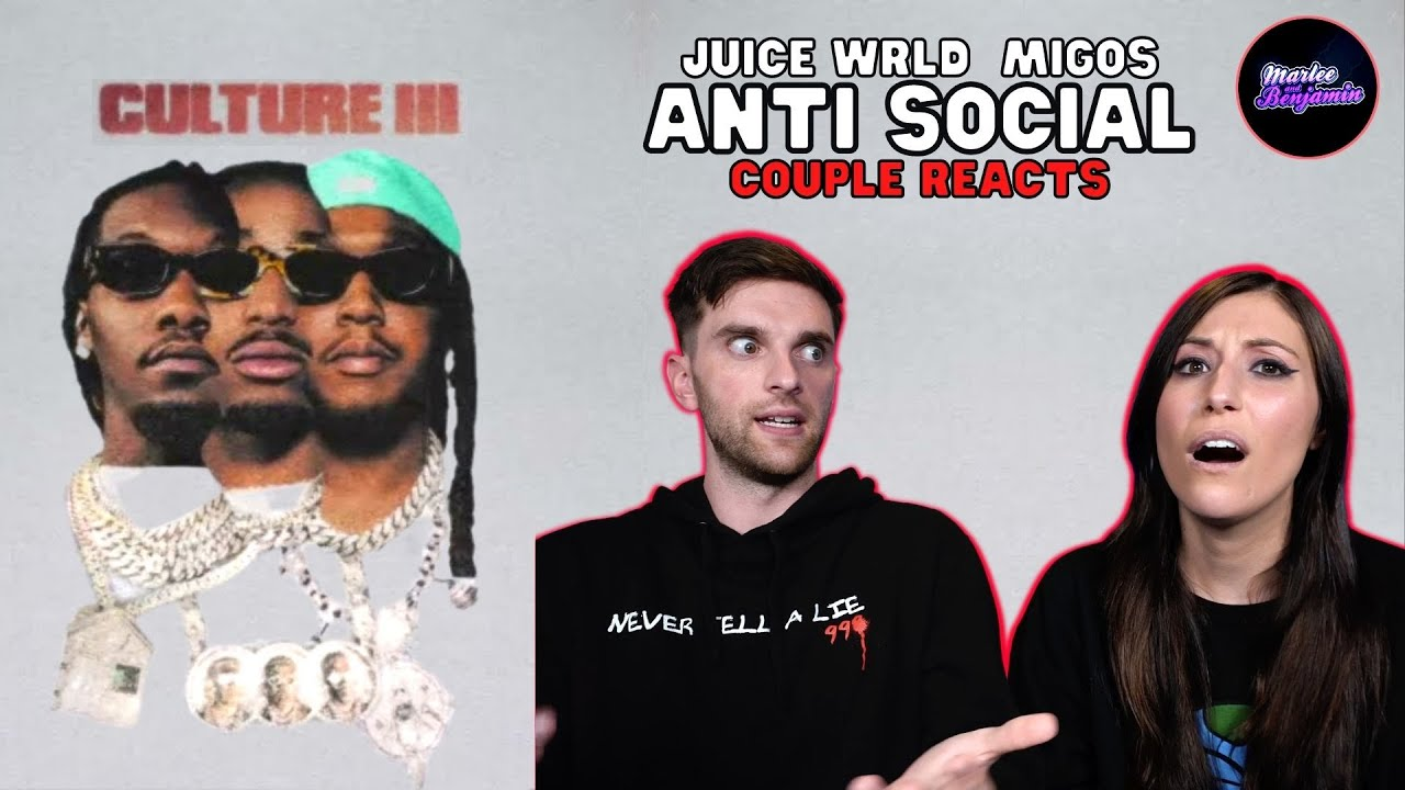 FIRST TIME HEARING MIGOS!! COUPLE REACTS to Migos Feat. Juice WRLD - Anti Social (Official Audio)