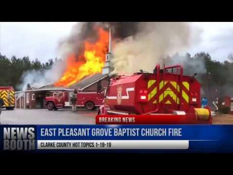 East Pleasant Grove Baptist Church Fire, Clarke County, MS 1-19-19