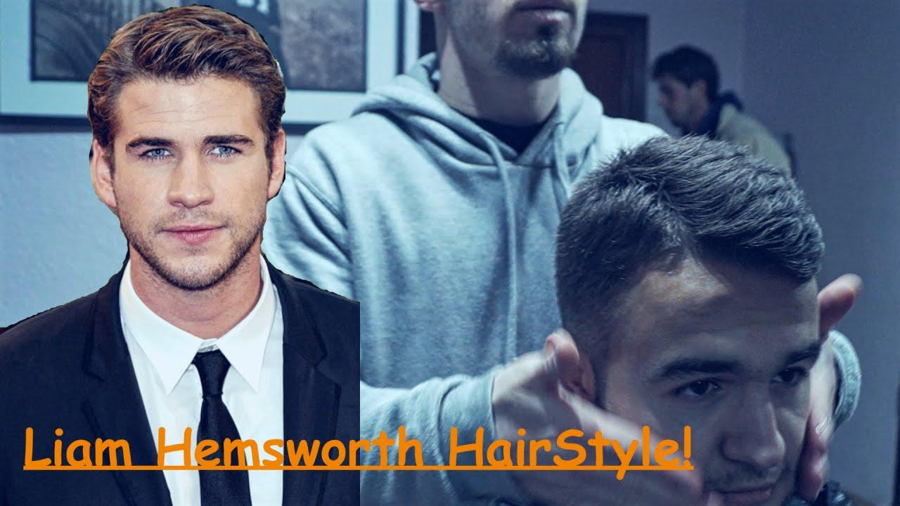 Liam Hemsworth Hairstyle Haircut Beard Tutorial Barbero Mick Youtube