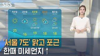[날씨] '서울 7도' 총선날 맑고 포근…한때 미세먼지…