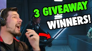 WINNERS ANNOUNCED for May 4th Giveaway