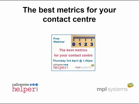 Webinar Replay: The best metrics for your contact centre