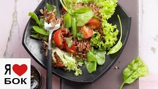 Салат с рисом и овощами. Летние рецепты