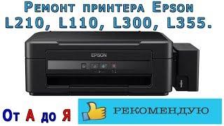 Ремонт принтера Epson L210, L110, L300, L355. От А до Я