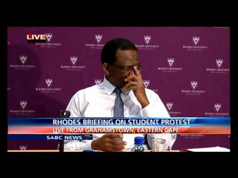 Rhodes University Vice Chancellor answer questions