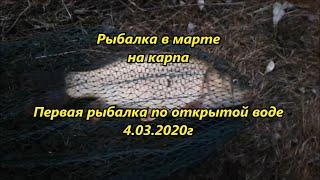 Рыбалка в марте на карпа Первая рыбалка по открытой воде 4 03 2020г