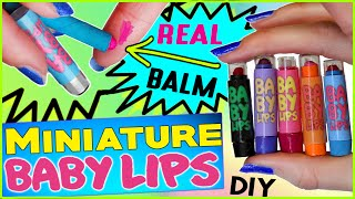 diy miniature baby lips lip balm   real lip balm inside   how to make mini baby lips   fetus lips