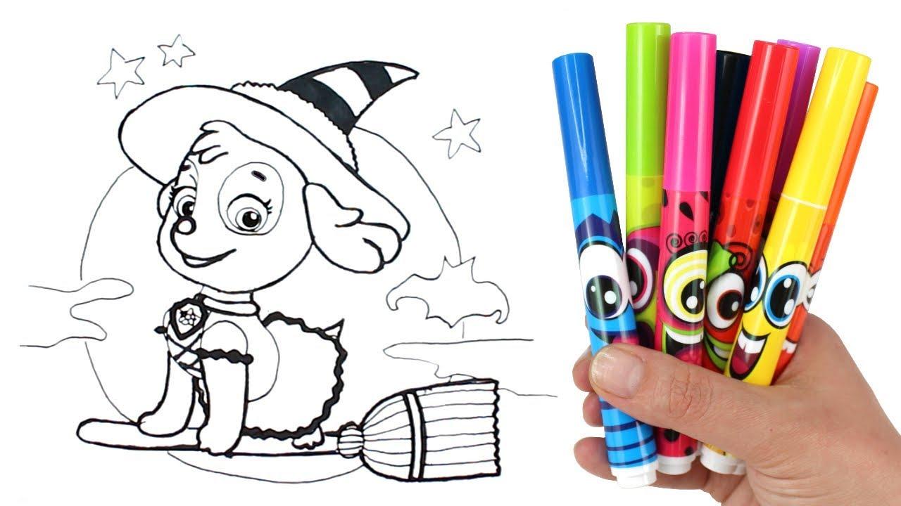How to Draw Paw Patrol Halloween Skye | Paw Patrol Skye in ...