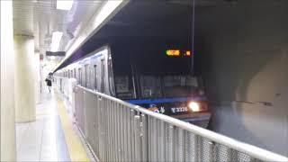 横浜市営地下鉄3000N形3321F 普通 あざみ野ゆき 関内発車