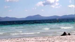 Beautiful beach Port Alcudia, Majorca, October 2012
