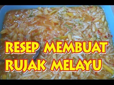 Resep Cara Membuat Rujak Melayu Youtube