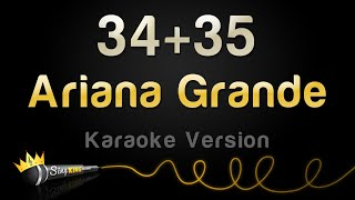 Download lagu Ariana Grande - 34+35 (Karaoke Version)