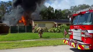 Pre arrivial Structure fire Fort Lauderdale part 1