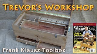 Building Frank Klausz's toolbox from Popular Woodworking #156 (2017 pallet up-cycle challenge)
