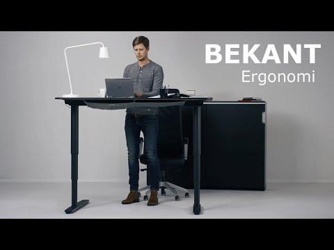 Ikea's New Desk Goes From Sitting To Standing With The Push Of A Button