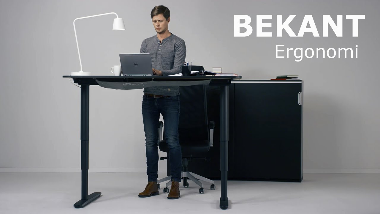 Bekant ergonomi youtube for Ikea stand up pupitres