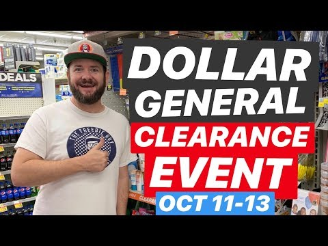 YASS!! Dollar General Clearance Event Starts October 11th!
