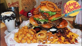 Johnny Rockets 8lb 'Jumbo Rocket' Double Burgers Challenge in Miami!!