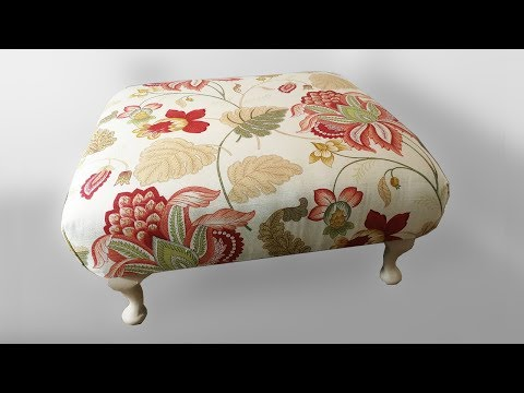 Make a cheap, oversized footstool | DIY: How to | Eighty One Vintage