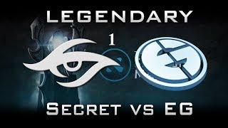 SECRET VS EG CRAZY GAME 1 dreamleague