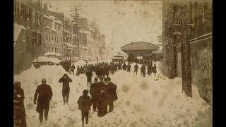 Blizzard of 1888, Eye witness account by Albert Hunt recorded in 1949