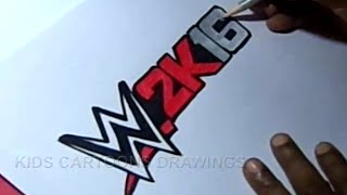 How to Draw WWE 2k16 Logo Wrestlemania Drawing