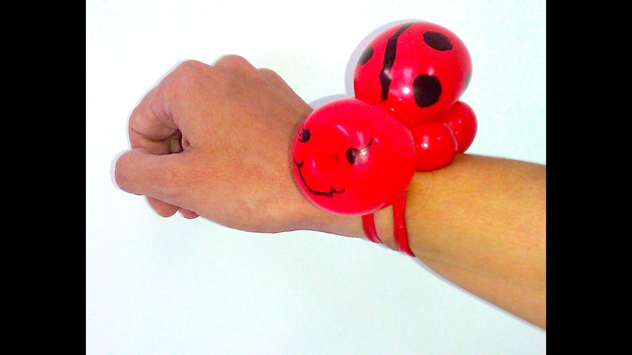 How to make a ladybug balloon bracelet balloon animals for What can you make with balloons