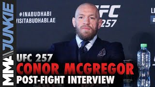 Conor McGregor Makes No Excuses But Plans To Regroup And Assess His Options | UFC 257 Post-fight