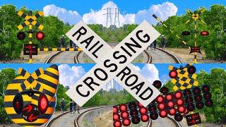 【踏切アニメ】やりすぎなふみきりカンカン♪ \Too much/ Various railroad crossings and trains!