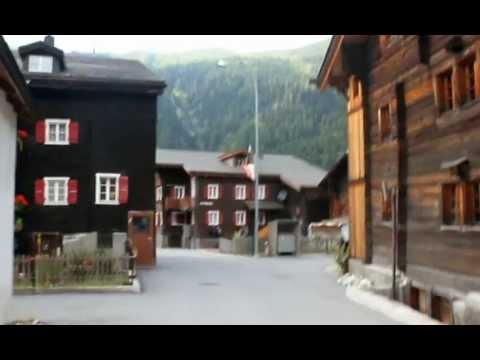 A walk through the village oberwald (Wallis, Switzerland)