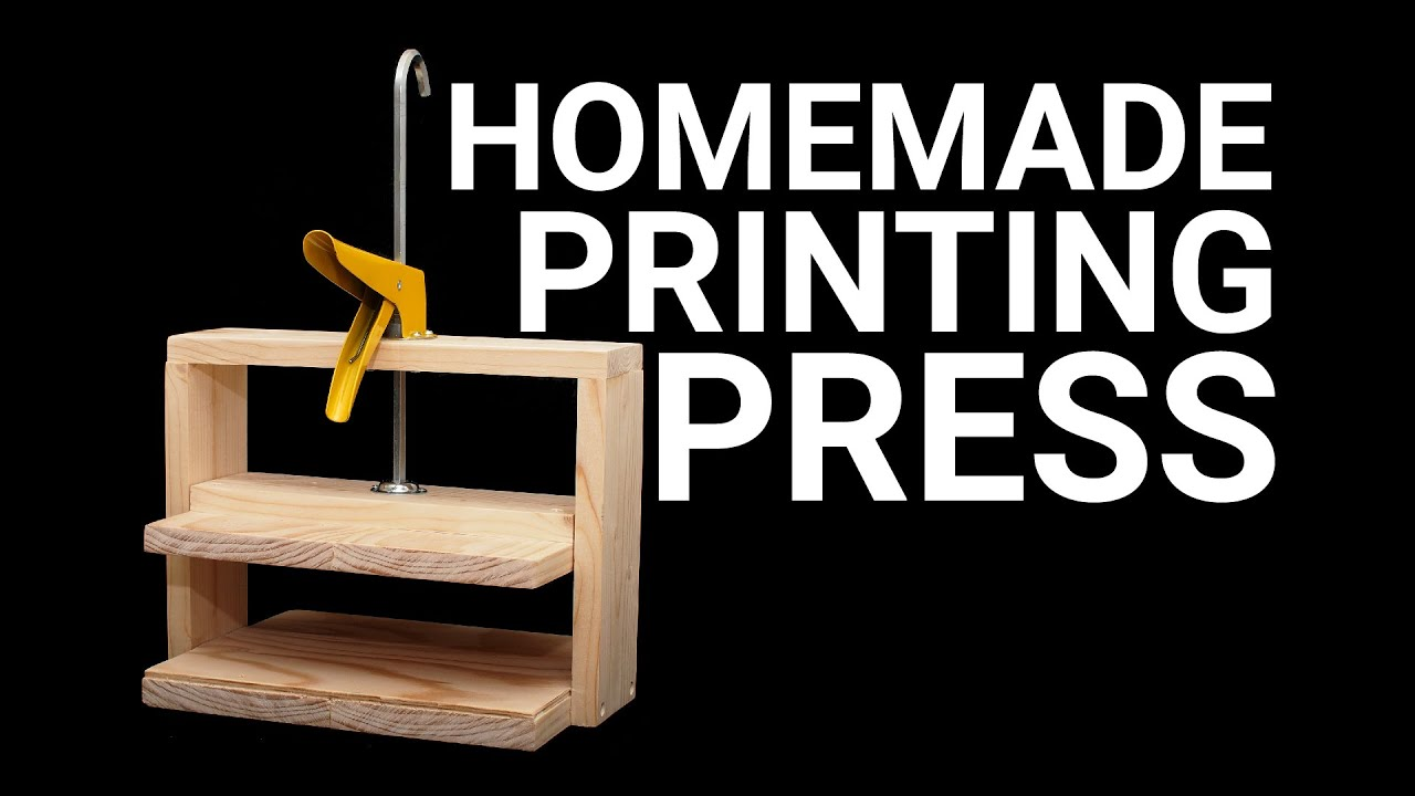 How To Make a Simple Printing Press - YouTube