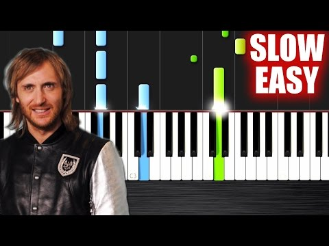 David Guetta - Titanium ft. Sia - SLOW EASY Piano Tutorial by PlutaX
