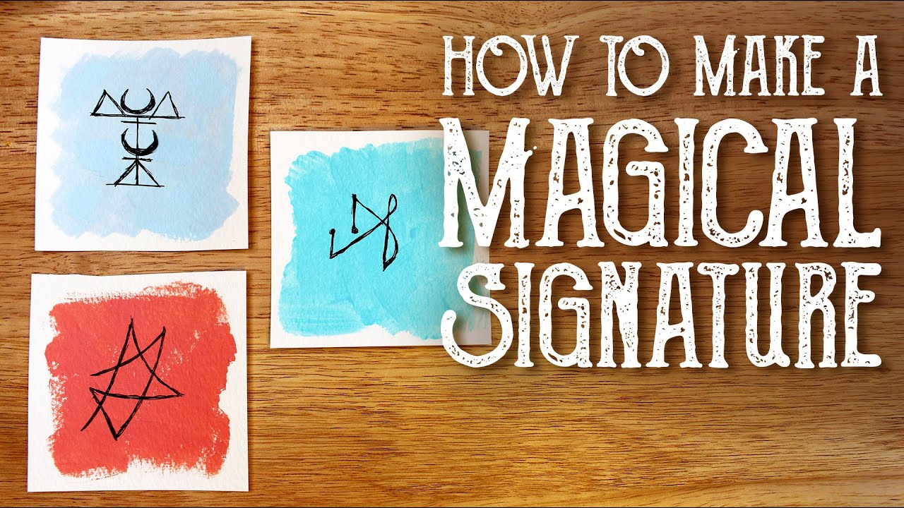 3 Ways to Make A Magic Sigil Signature & 3 Ways to Use It, Magical Crafting, Witchcraft, Sigil M