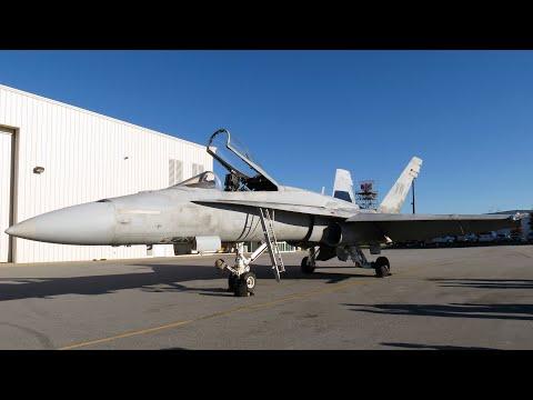F/A-18A Hornet Landing at AVL