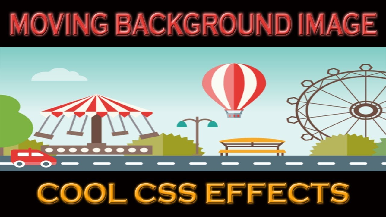 Moving Background Image Css Pure Css Animation Repeating