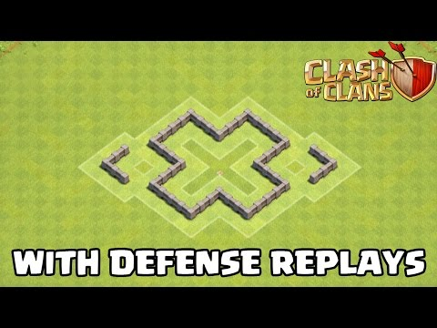 Clash Of Clans - TH3 Defense Strategy BEST Town Hall 3 FARMING Base + Defense Replays 2015