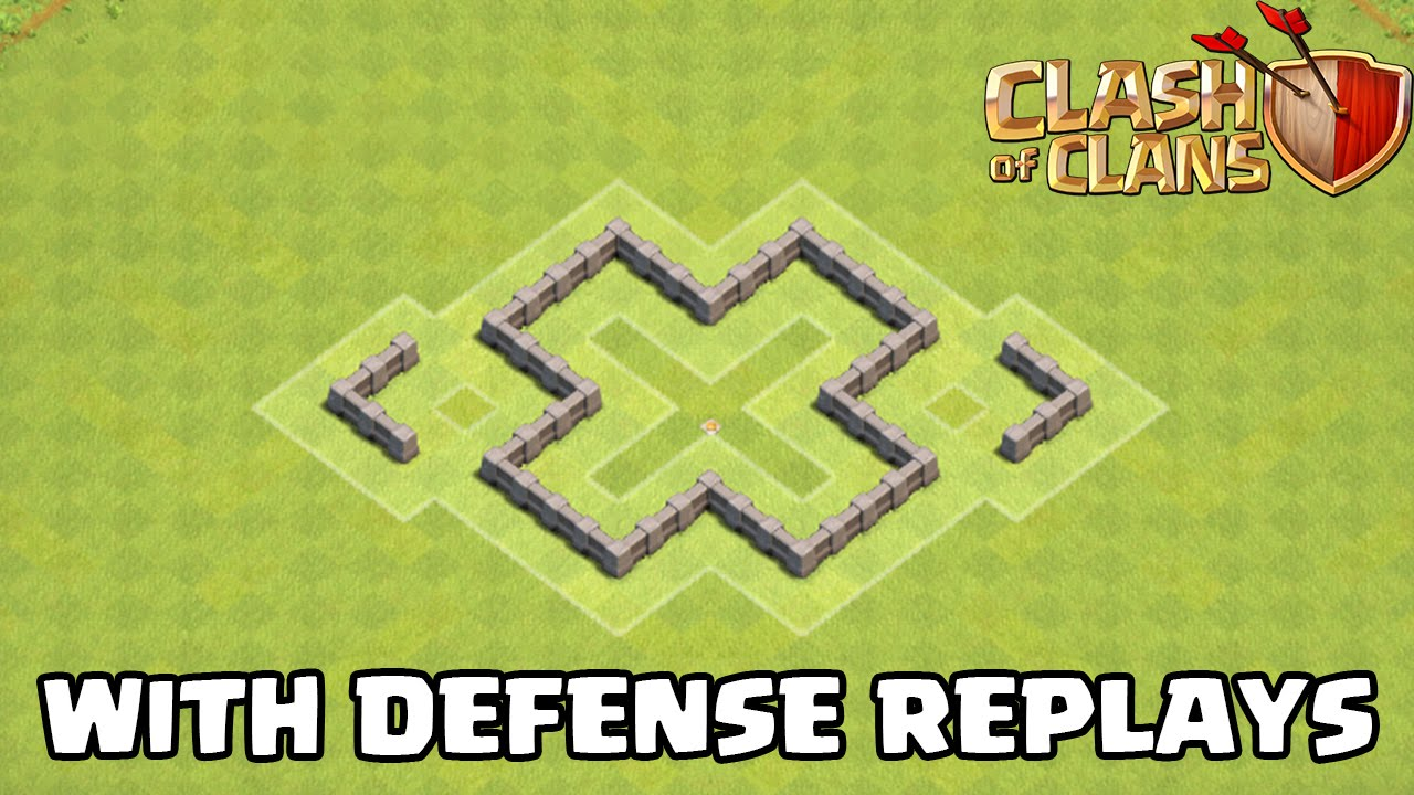 Clash of clans th3 defense strategy best town hall 3 farming base