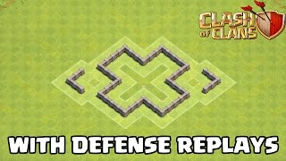 Th3 defense strategy best town hall 3 farming base defense replays