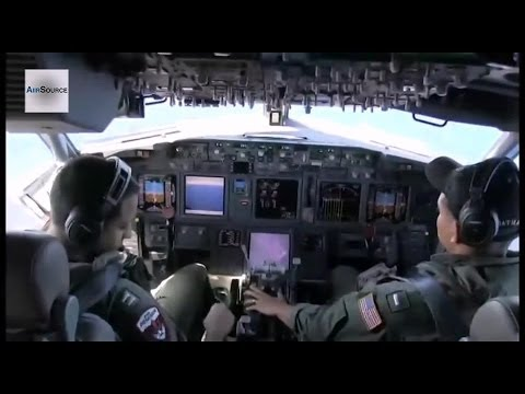 US Navy P-8A Poseidon Patrol Aircraft Searching for Flight MH370