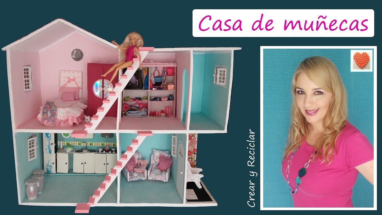 Decorando la casa de mu ecas con reciclaje diy youtube - Casa de barbie con ascensor ...
