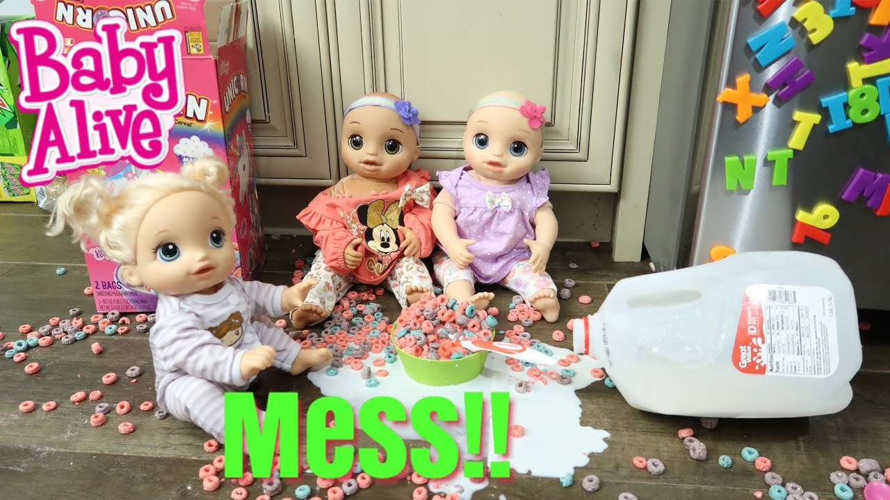 Baby Twins Routine Baby Alive Twins Make A Mess Baby Alive Videos Youtube