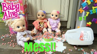 BABY ALIVE Twins Make A Mess baby alive videos