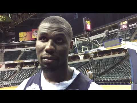 Ben Bentil after working out for the Pacers
