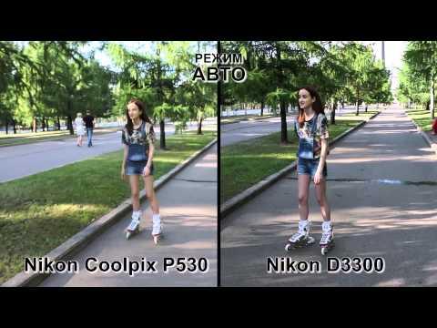 Тест видео. Сравнение фотокамер Nikon Coolpix P530 и Nikon D3300