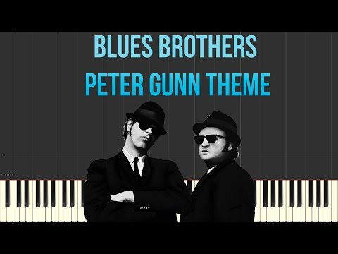 Peter Gunn Theme (Blues Brothers) (Piano Tutorial Synthesia)