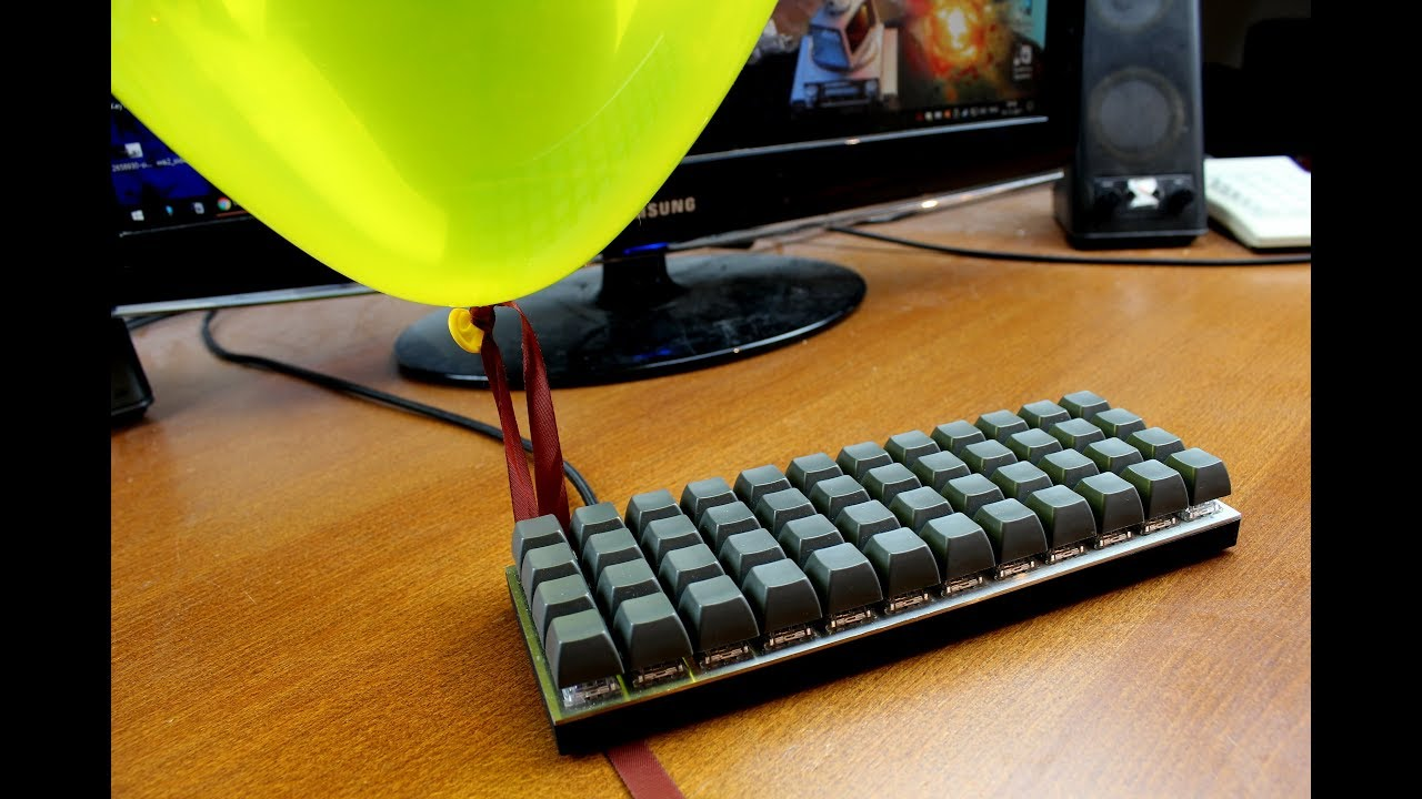 OLKB Planck 40% keyboard review - ON HELIUM! (Zealio purple 65 g)