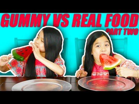 GUMMY FOOD VS REAL FOOD CHALLENGE [PART 2]
